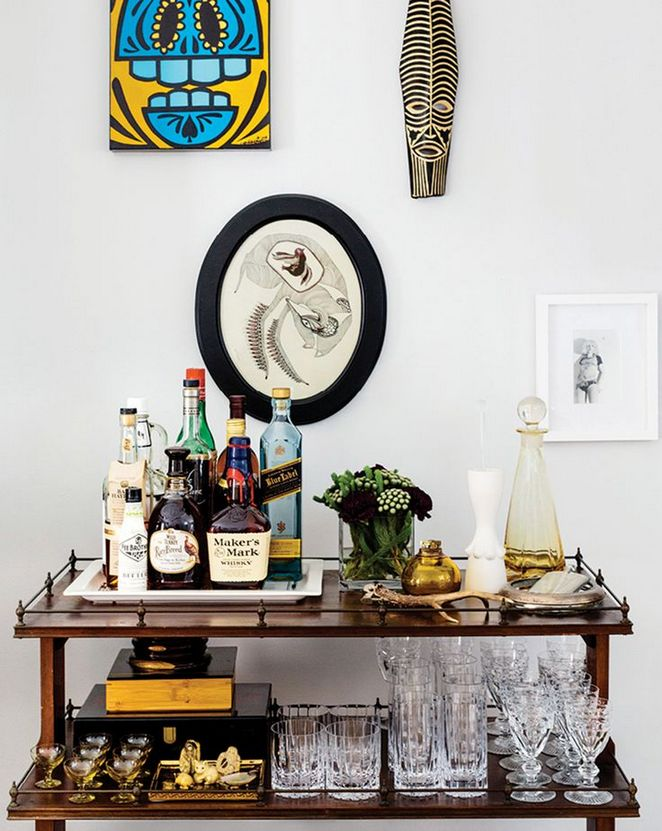 +42 A Review of Bar Cart Styling Apartments Small Spaces Dining Rooms