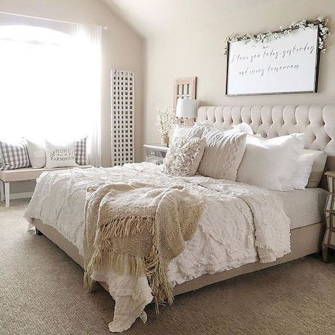 + 47 The Death of Master Bedroom Ideas Rustic Farmhouse Style Bedding