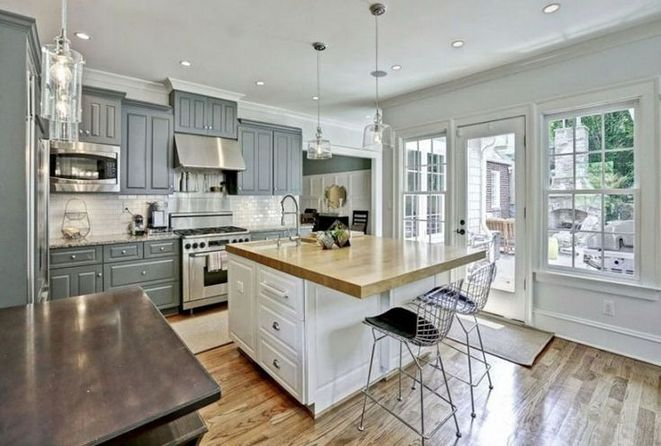 + 47 Grey Kitchen Cabinets with White Island Subway Tiles – What Is It